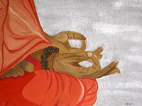 Acryl und Oel auf Leinwand: Am Ganges