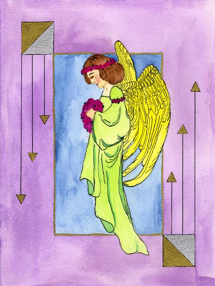 Engel-der-Einsicht, Illustration, Die Farben des Himmels