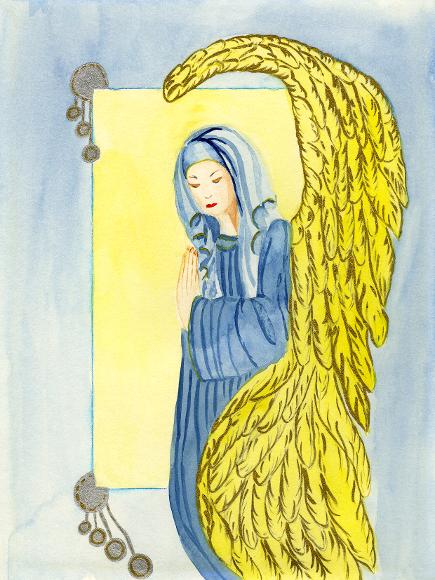 Engel-der-Erinnerung, Illustration, Die Farben des Himmels