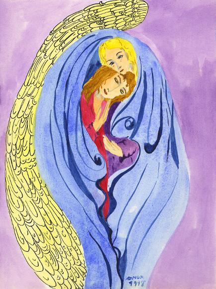 Engel-mit-Elena, Illustration, Die Farben des Himmels